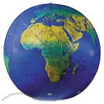 Replogle Globes Inflatable Topographical Globe, Dark Blue Ocean