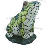Resin Garden Frog Solar Light