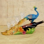 Resin Peacock Wine Bottle Holder