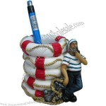Resin Souvenir Sailor Pen Holder for Promotion Gifts