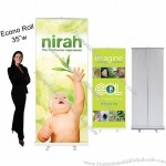 Retractable Banner Stand 34''w Econo Roll Economy Banner Stand