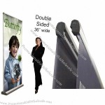 """Retractable Roll Up Banner Stand 36""""w Butterfly Banner Stand"""