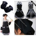 Retro Apron Set with Head & Arm Covers