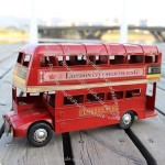 Retro British Double-decker Bus Model