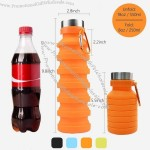 Reuseable BPA Free Silicone Collapsible Water Bottle with Carabiner for Travel