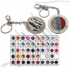 Rhinestone Round Folding Purse Hanger Key Chain