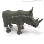 Rhinoceros-Shaped Plastic Craft with Fixed Legs