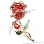 Rose Pearl Scarf Pin Brooch