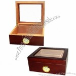 Rosewood Cigar Humidor, Executive, Holds 25-50 Cigars