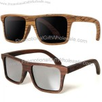 Rosewood/Zebrawood Mirrored Grey Wooden Glasses