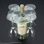 Round Acrylic Four Wine Glass Holder