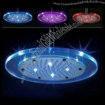 Round Color Change LED Shower Head Automatic Sprinkler