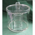 Round Cotton Bud Canister