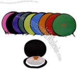 Round neoprene CD cases, holds up to 12 CD's/DVD's