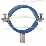Round Sanitary Stainless Steel Pipe Holder with Welding Connection