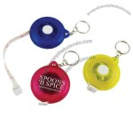 Round shape tape measure with spilt ring key chain