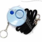 Round-shaped Multipurpose Personal Alarm Keychain with White LED