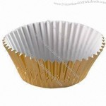 Round Silver/Gold Baking Cup