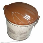 Round Tin Box for Nuts with Full-color Printing