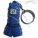 Rubber Basketball Clothing USB Flash Drive and Keyring