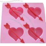 Rubber Silicone Heart Shaped Cake Baking Mold