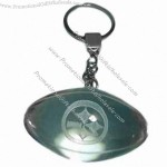 Rugby Ball-shaped crystal keychain