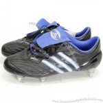 Rugby Boots/Shoes Metal Cleats Black/Blue/Silver