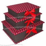 S/3 Fabric Gift Box with Magnets