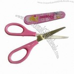 Safety plastic cap student scissors