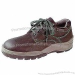 Safety Shoes with Leather Upper, Dual Density PU Outsole and CE-approved
