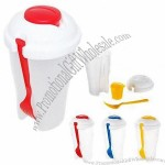 Salad Shaker With Fork And Sauce Container