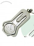 "Satin Silver Finished Golf Tool W/ Detachable Key Ring 3-3/4""X1-1/4""X1/4"""