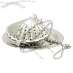 Sea Shell Stainless Steel Tea Infuser with Drip Tray
