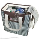 Seaside Stripes 33-Can Fashion Cooler Bag