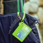 Security Card Cover with Spring Keychain