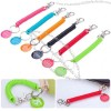 Security Rope Spring Keychain with Tag