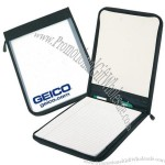 Semi Clear Zipper Writing Folder
