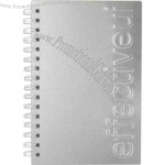 "Seminar pad journal with aluminum alloy cover and 100 sheets of paper, 5.5"" x 8.5"""