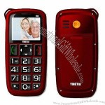 Senior Phones/Quad-band Big Button Elderly Cellphones, SOS One Key Dial Out for Emergency