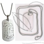 Serenity Prayer Stainless Steel Dog Tag Necklace(1)