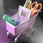 Shopping cart pen holder.