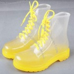 Short PVC Transparent Jelly Boots for Ladies