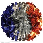 Side by Side Metallic Three Color Cheerleader Pom Poms