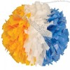 Side by Side Plastic Three Color Cheerleading Pom Poms