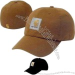 Signature canvas cap with pre curved visor