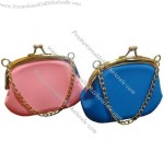 Silicone Coin Purse With Metal Chain