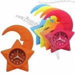 Silicone Desk Clock with Big Digital and Loud Alarm