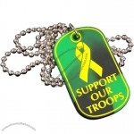 Silicone Dog Tag W/ Color Fill One Side
