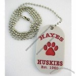 Silicone dog tag with printed or debossed color filled logo