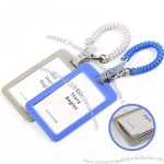 Silicone ID Card Holder with Spring Rope Clip